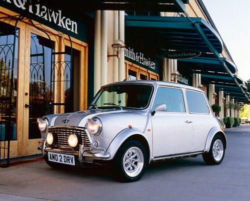 silver mini cooper. Mad in love with classic minis