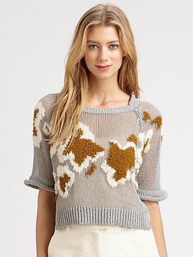 3.1 Phillip Lim - Open-Knit Intarsia Sweater - Saks.com