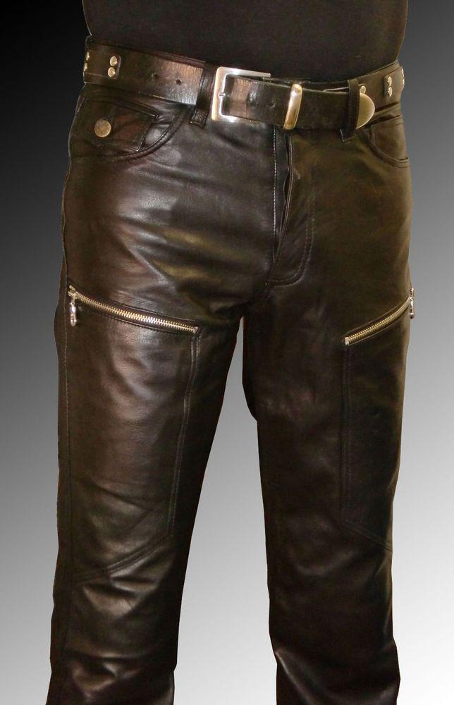 Reissverschluss Oder Knopfleiste Wahlbar Futterung Bis Knie 100 Polyester 2 Taschen Hinten Jeanss Leather Pants Leather Jeans Leather Pants Outfit