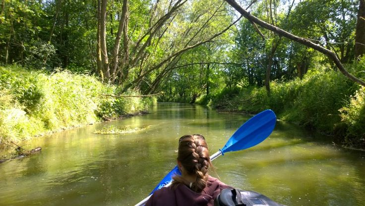 Czech Adventures event - Beautiful river in canoe