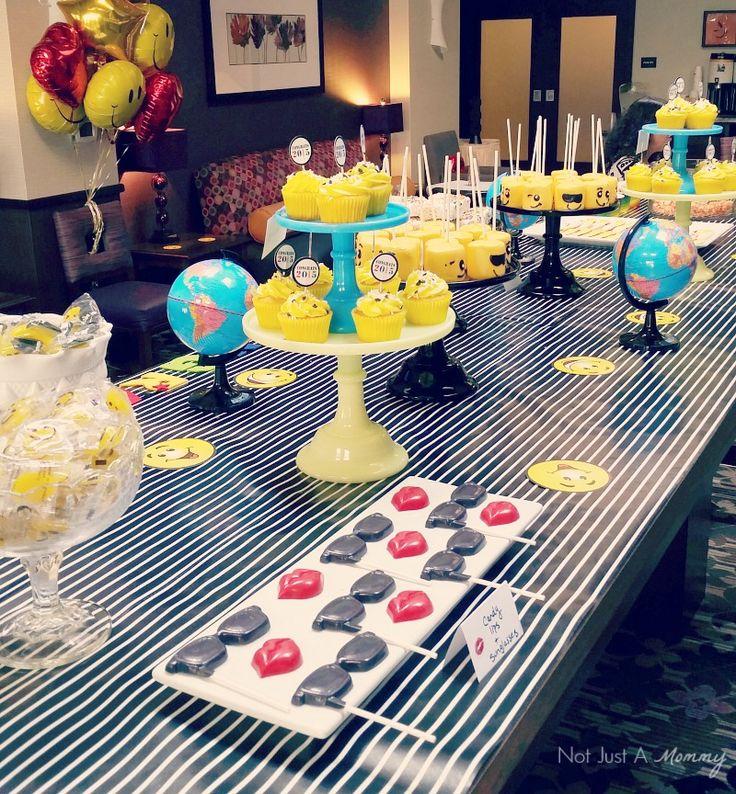 Emoji Graduation Party Dessert Table Inspired