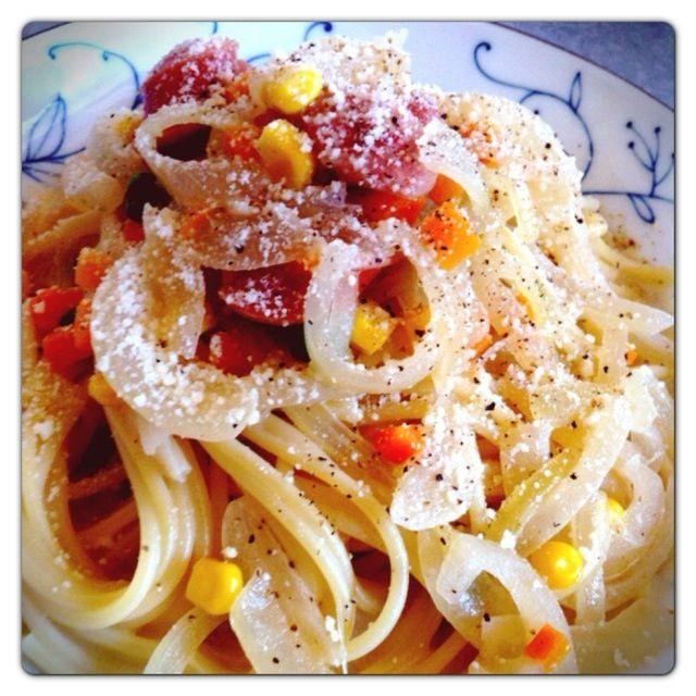 今日のパスタ…ボチボチかな〜(^_^;) - 96件のもぐもぐ - クリームスープスパゲティ by MrPotatoguts