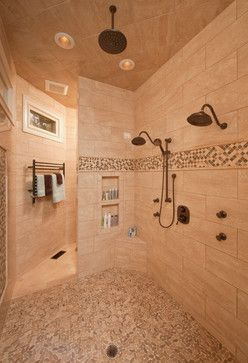 I like the shower head in the ceiling as well