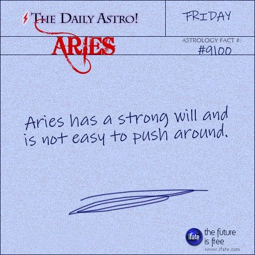 Aries Daily Astro!: Take a look at your horoscope for today, Aries.  Visit iFate.com today!