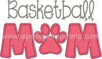 Basketball Mom Applique Design