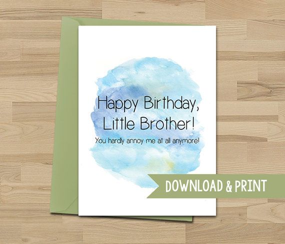 19 best funny greeting cards images on pinterest funny greeting funny birthday card little brother annoying printable card bookmarktalkfo Gallery