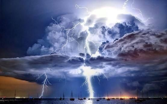 Massive Thunderstorm over Port Philip Bay, Melbourne, Australia