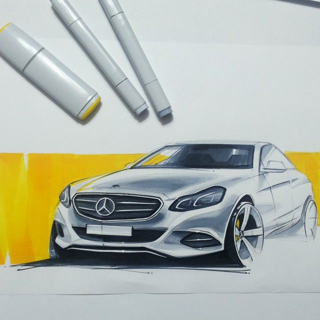 orhanokay's photo on Instagram #sketchzone #designsketch #car #cardesign #marker #copic #art #beatiful #drawing #art #illustration #creative #art #instaartist #artsy #picture #mercedes #daimler #benz #gray #yellow #black