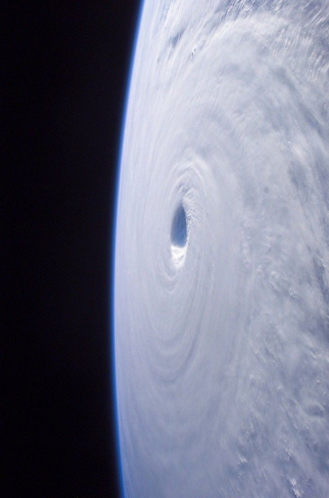 Typhoon at Korea: View from the International Space Station