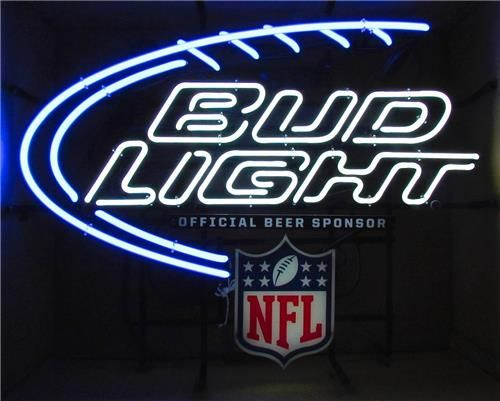 Bud Light NFL Neon Bar Sign for Sale | Neon Beer Signs