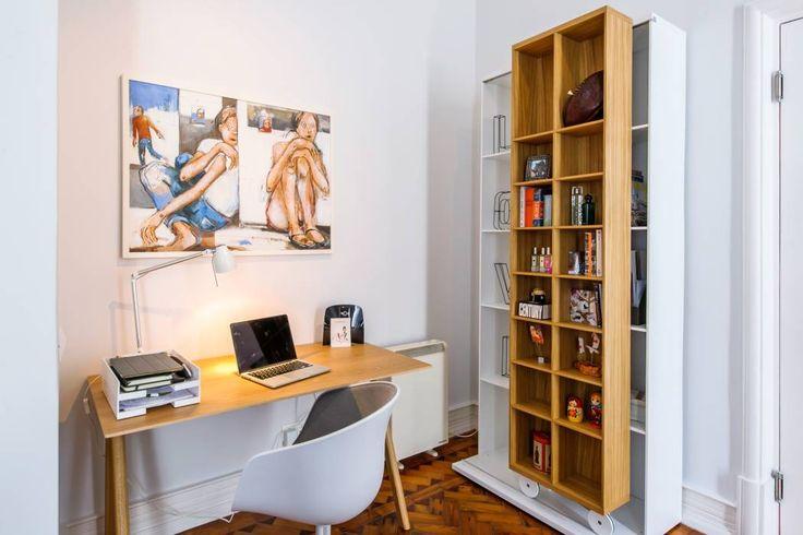 Apartamento Lisboa : Espaços de trabalho translation missing: pt.style.espaços-de-trabalho.escandinavo por Espaço Mínimo