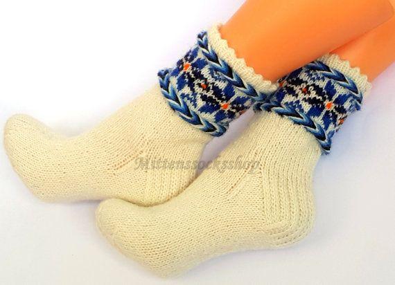 Hand knitted wool socks Warm socks Winter от mittenssocksshop