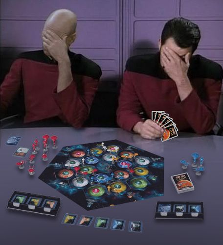 Picard and Riker playing Catan, I want this game!