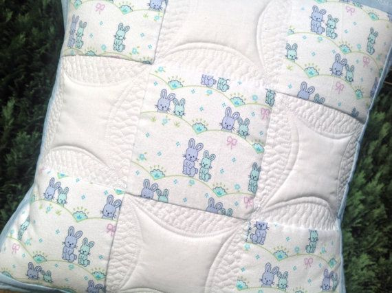 Quilted kids pillow cover pillow sham throw by PrositoQuilts & 120 best Quilting - patterns: pillows images on Pinterest ... pillowsntoast.com