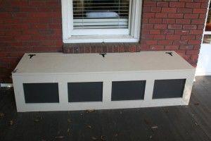 DIY Craftsman Porch Storage Bench