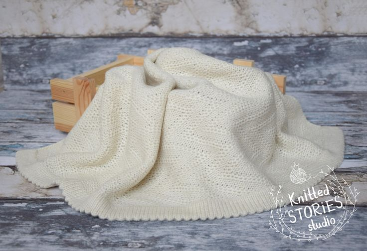 Blanket for newborn,Baby Shower Gift, Knit blanket,Plaid newborn,Bedspread for a newborn, Newborn girl,Newborn Boy,Baby plaid,Natural white,