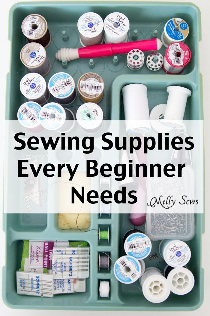 5 Must have Sewing Tools for Beginners - Basic Sewing Supplies - Learn to sew with Melly Sews