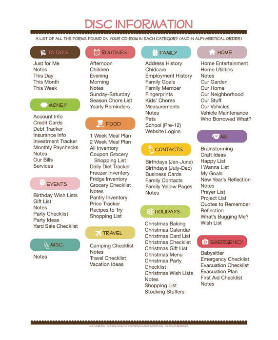 Healthy Lifestyle Weekly Cleaning Checklist And Household Binder