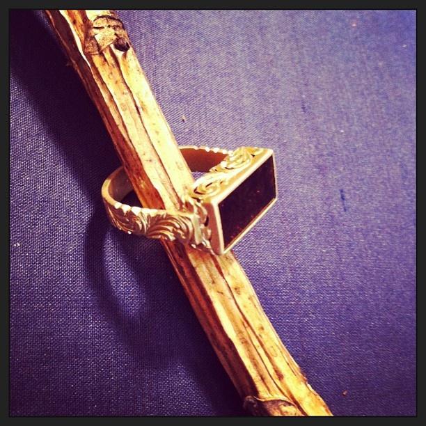handmade golden ring
