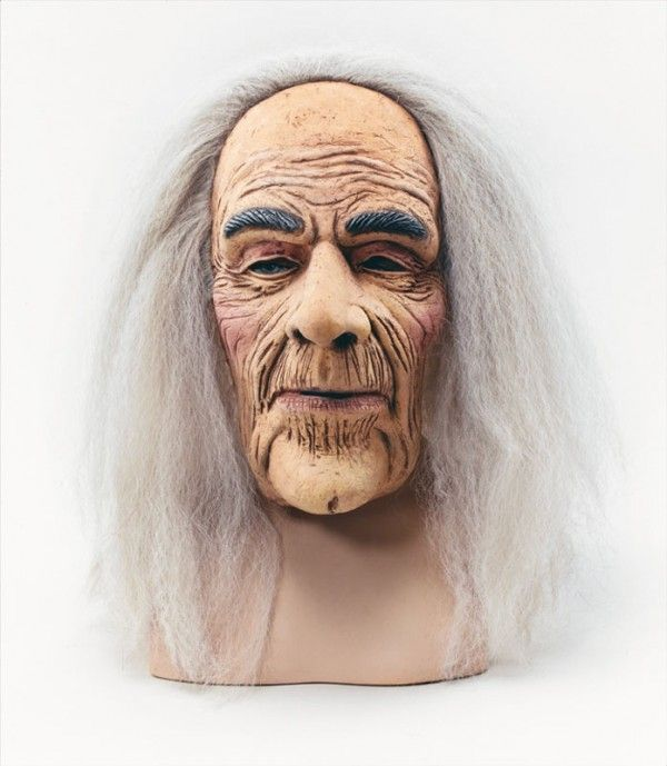 Creepy Old Man Hermit Mask