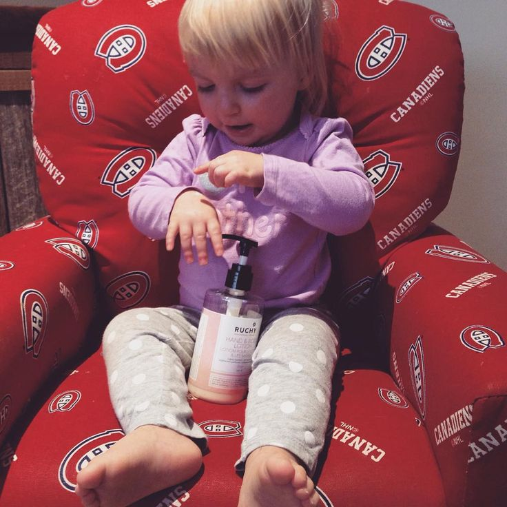 Little Audrey can't get enough of our Rose Water Lotion
