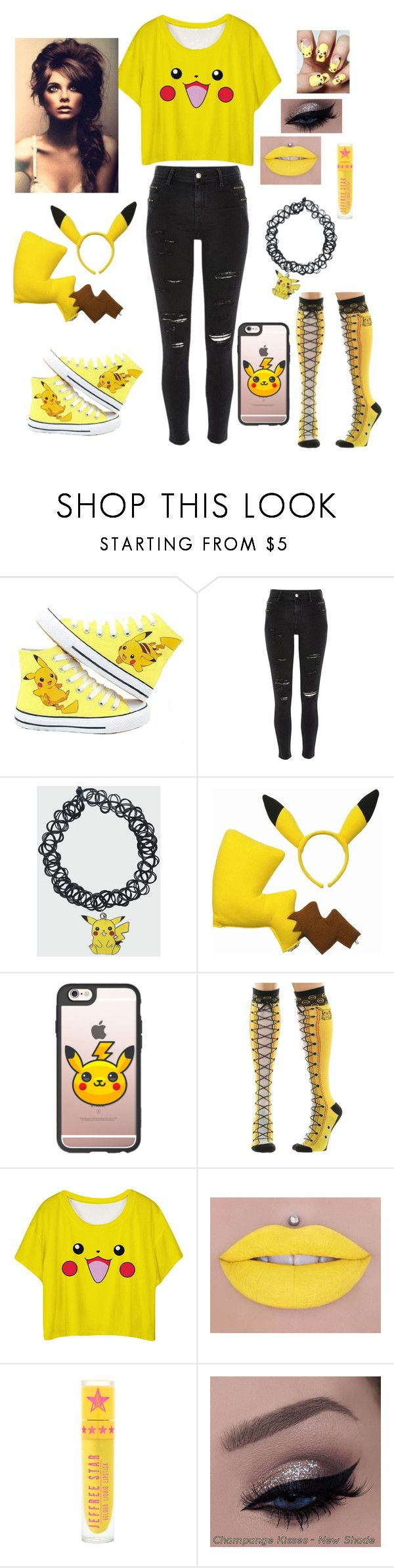 """""""Everything Pikachu!"""" by emo-roxanne ❤ liked on Polyvore featuring River Island and Casetify"""