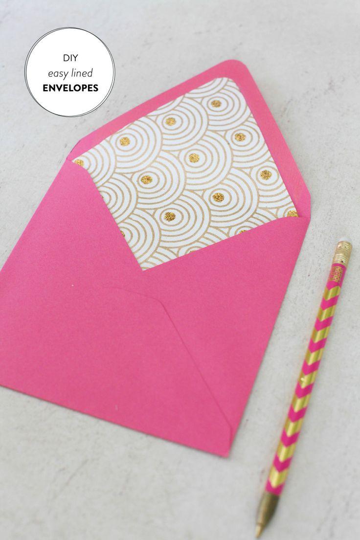 DIY Lined Envelopes |   Read more - http://www.stylemepretty.com/living/2013/07/09/diy-lined-envelopes/