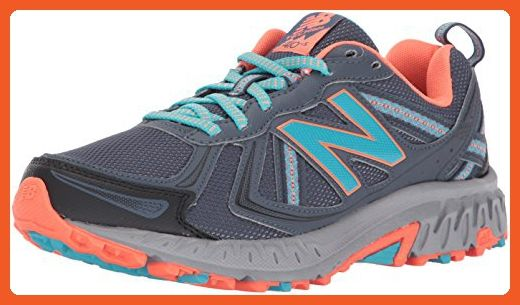New Balance Women's Cushioning 410 V5 Running Shoe Trail Runner, Thunder/Vivid Ozone Blue, 8 B US - Athletic shoes for women (*Amazon Partner-Link)