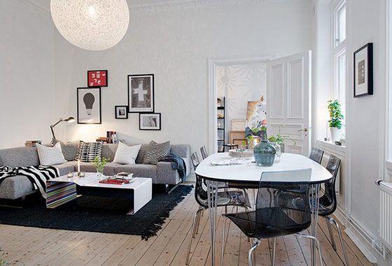 IKEAインテリアデザイナーの、おしゃれなリアル・アパートメント in スウェーデン