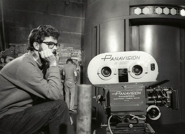 A Very Young George Lucas and his Panavision ~Repinned via Yoshinori Murai http://thedigitalvisual.com/the-panavision-psr-35mm-camera-that-filmed-star-wars-fetches-625000-at-auction