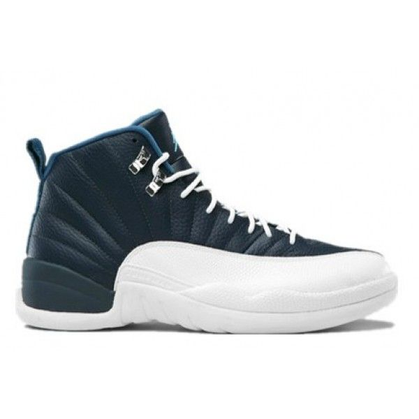 Cheap 130690-410 Air Jordan 12 Retro 2012 Obsidian University Blue White  French Blue A12006