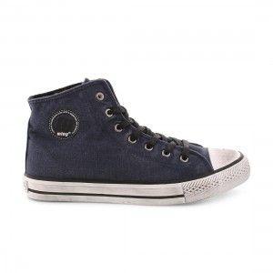 Botas lona invierno MTNG azul jeans
