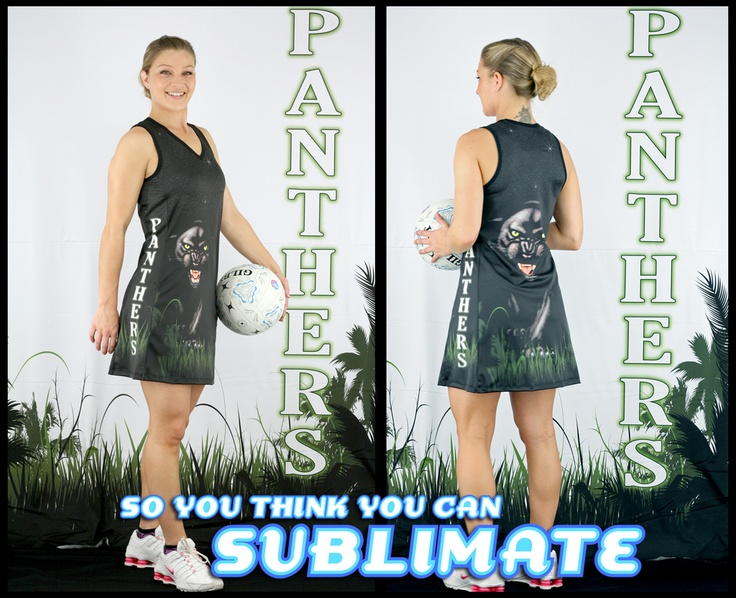 Check out this awesome entry to our 'So You Think You Can Sublimate Competition' - a fully sublimated netball outfit! Sports teams are always a lucrative market for sublimation printers and we think this one would not only make a stylish impression on the court, but check out that panther! Talk about a bit of psychological intimidation! Show this entry some 'like' or repin if you agree!