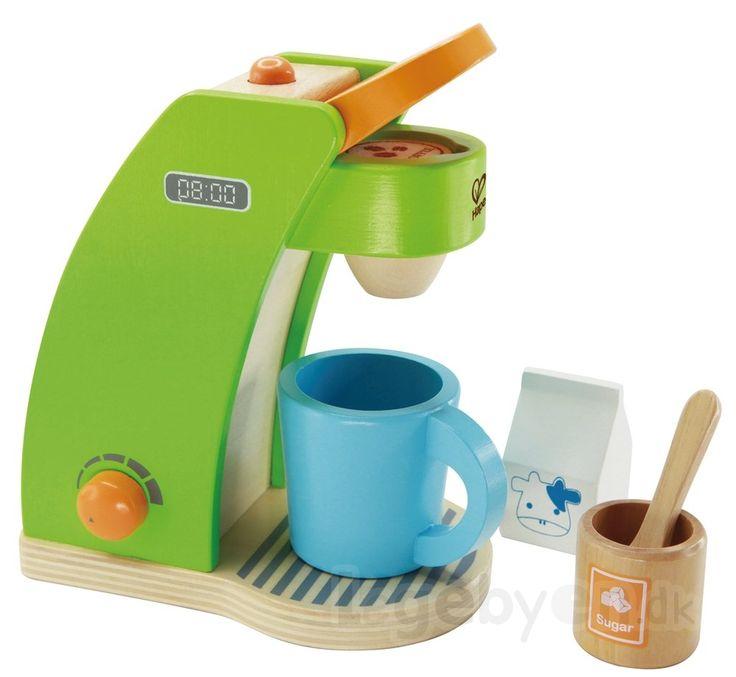 Køb Legemad - Kaffemaskine i træ fra Hape - 6 dele. online - Hape