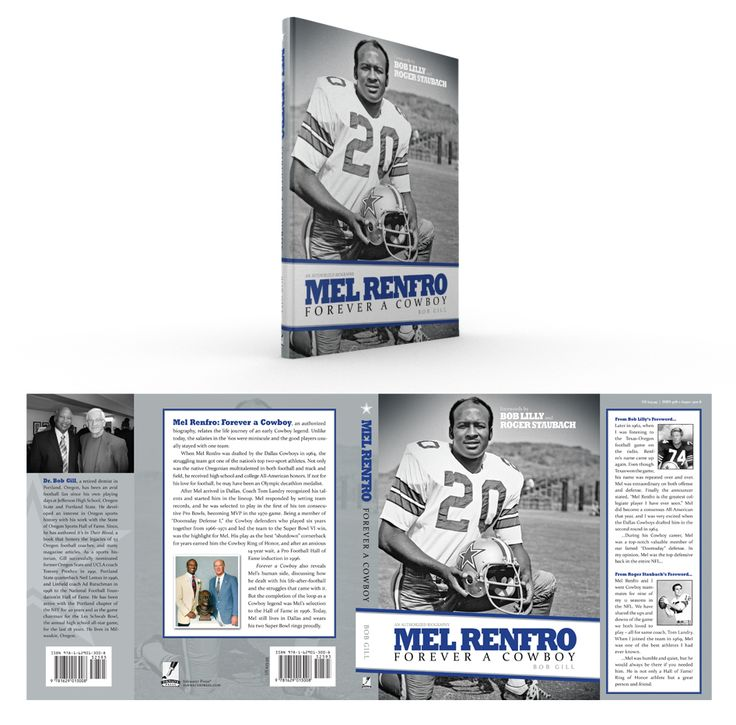 """Book cover design of authorized biography """"Mel Renfro: Forever a Cowboy""""."""