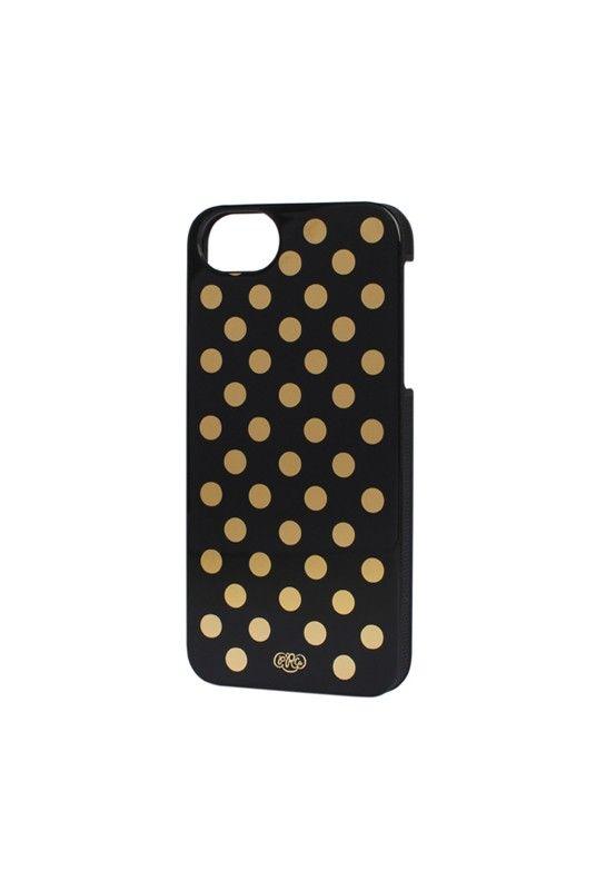 Dress your tech.... Rifle Paper Co - iPhone 5 Slim Hard Case - Gold Dots - NoteMaker.com.au