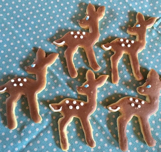"""Fawn sugar cookies - """"oh deer"""" baby shower 2016 lavish whimsy"""