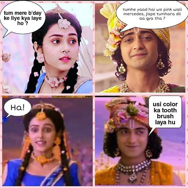 Image May Contain 4 People Text Radha Krishna Songs Extremely Funny Jokes Krishna Songs