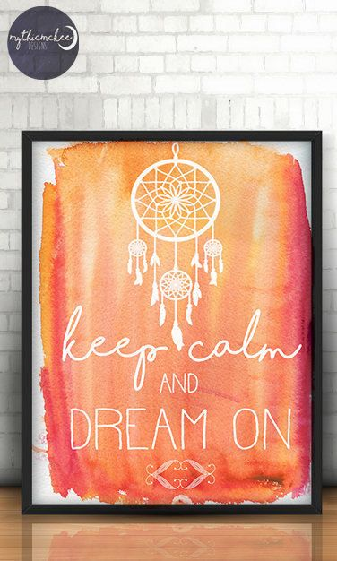 Printable Dream Catcher Water Colour Painted Back Ground With