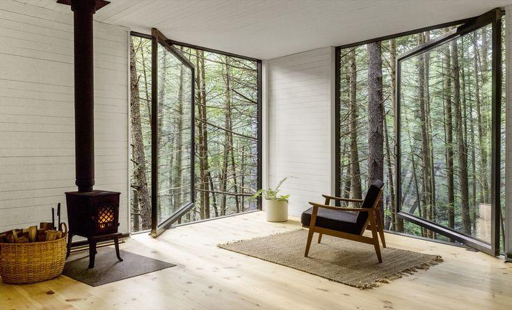 Half-Tree House by Jacobschang Architecture, photo Noah Kalina, in Sullivan County, NY
