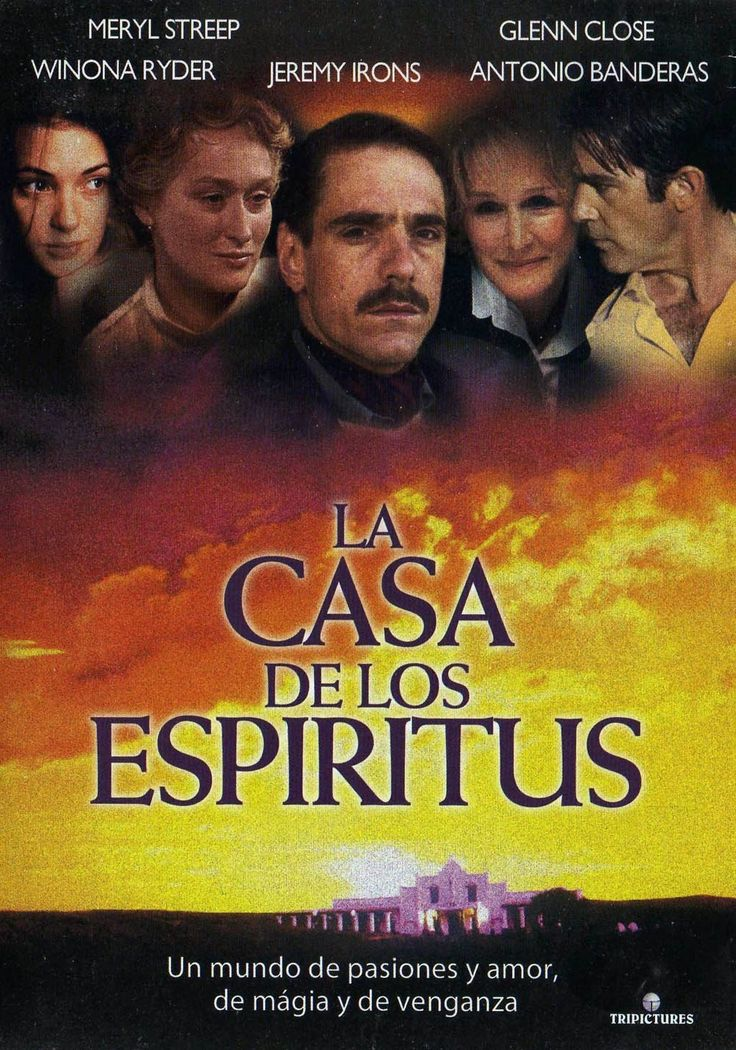 """La casa de los espíritus"" (1993) - a German-Danish-Portuguese period drama directed by Bille August. Based on the 1982 novel ""La casa de los espíritus"" by Isabel Allende."