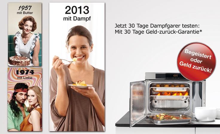 Letzte Chance: Miele Dampfgarer ausprobieren! Begeistert oder Geld zurück!*    http://www.miele.at/ex/microsite/at/Dampfgarer/DampfgarerEintauschaktion.html    * Aktion gültig nur in Österreich, bis 15. Mai 2013.