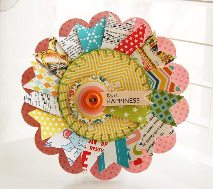 Roree Rumph created this unique card while challenging herself to use Sew Fun Banners in a different way