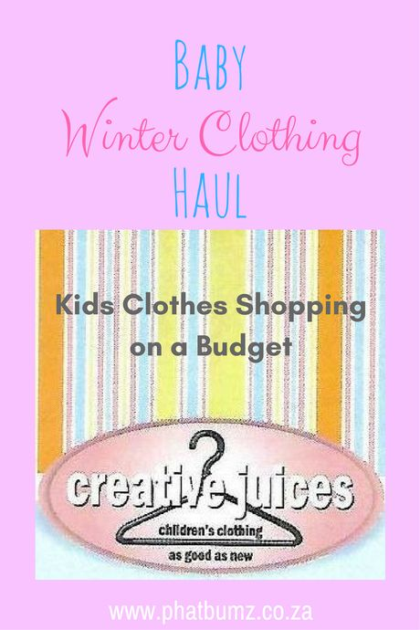 Does great value for money exist when buying kids clothes?? I found excellent deals at Creative Juices.