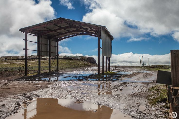 A muddy welcome at the Lesotho border post