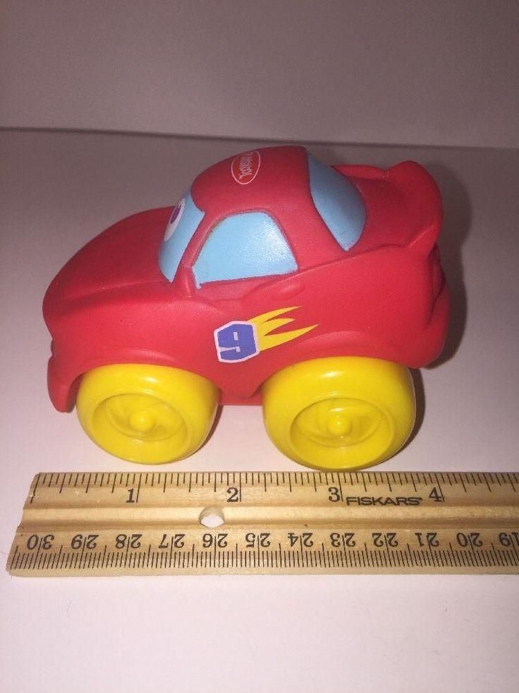 "2005 Hasbro/ Playskool Disney Pixar Cars 4"" Red Lightning Mcqueen Rubber Car  | eBay"