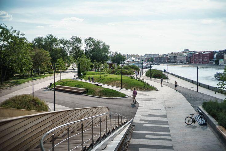 Krymskaya Embankment Moscow park