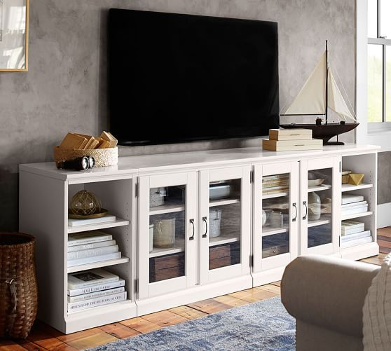 Printer's Long Low Media Suite | Pottery Barn. Many configurations. comes in 3 colors. $2,099.