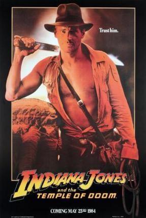 Indiana Jones Temple Doom Movie Poster Puzzle Fun-Size 120 pcs