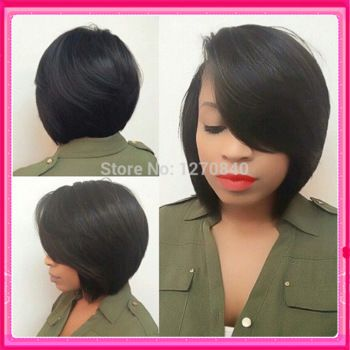2015 New 7A human hair bob wigs unprocessed brazilian glueless full lace & lace front wigs bob cut wig for black women babyhair